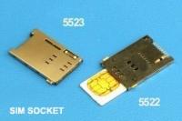 Sim socket Ref 5523, 5522