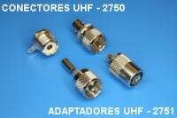 Conectors UHF 2750, adaptors UHF 2751