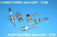 Conectors mini UHF 2760, adaptors mini UHF 2761