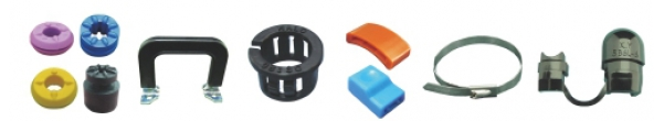 Hole Plugs - Strain Relief Bushing - Cable Ties - Handle - Movable Bushing - F.B.T Clip - Box Handle